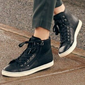 UGG Blaney Leather High Top Sneakers with Tassels